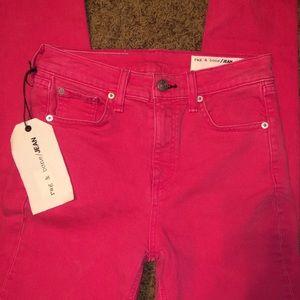 Rag & Bone Skinny Jeans Bull Pink Size 24